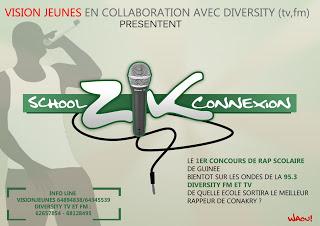 SCHOOL ZIK CONNEXION : le concours de rap scolaire de Conakry 20 établissements scolaires en compétition du 22 mars au 22 avril sur DIVERTY