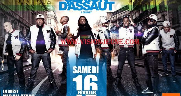 Sexion d'assaut en concert live le 16 février à Conakry.