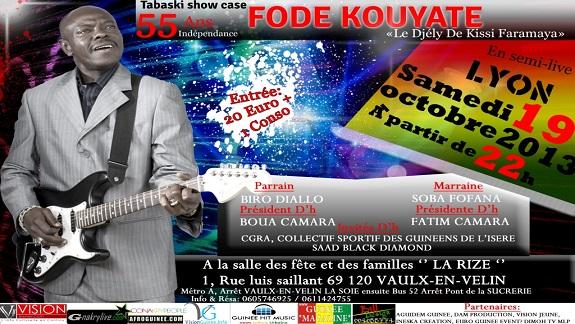 Tabaski show case à Lyon : Fodé Kouyaté à l'affiche