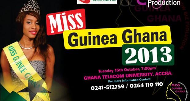 Miss Guinée-Ghana 2013, le 15 octobre 2013 à 14 heures