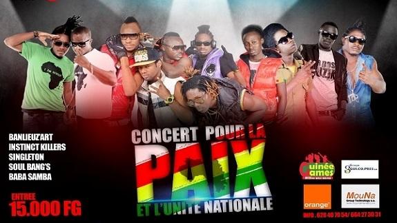 Musique : Front des artistes urbains pour la paix en Guinée