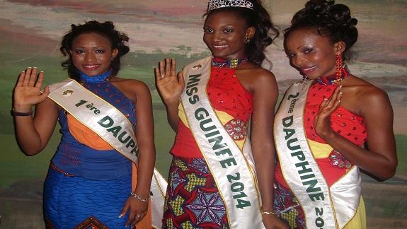 Le trio Miss Guinée 2014