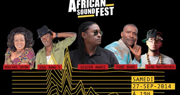 African Sound Fest : Didier Awadi, Fodé Baro, Soul Bang's et Koulako Sayon à l'affiche pour la 1ère édition
