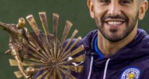 Football: l'attaquant algérien Riyad Mahrez, élu meilleur joueur de l'année 2016