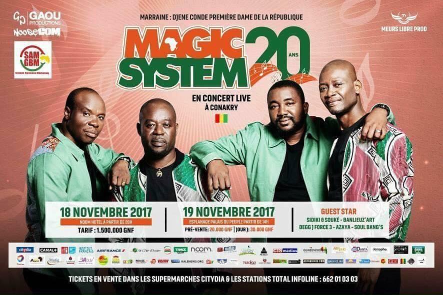 Spectacle : Magic Système attendu à Conakry le 18 et le 19 novembre prochain !