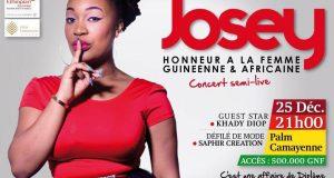 25 décembre 2017 : L'artiste ivoirienne Josey attendue à Conakry avec son diplôme !