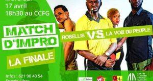 Match d'impro : La finale opposera Robellis à la voix du peuple