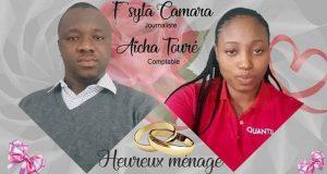 Carnet Rose : Le Journaliste Syta Camara se marie avec Aïcha Touré